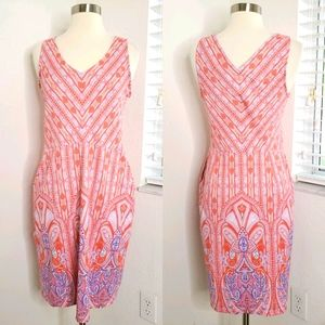 •J. MCLAUGHLIN• Printed Paisley Sleeveless Dress S